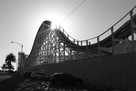 St KIlda has a crumbling theme park called Luna Park, complete with the oldest continually operating rollercoaster in the world.