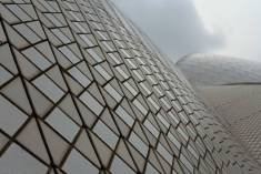 I was interested to see that the exterior of each of the Opera House's shells is covered in ceramic tiles