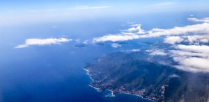 Aerial view of Gili Islands