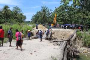 The road to Vanimo from the PNG border with Indonesia