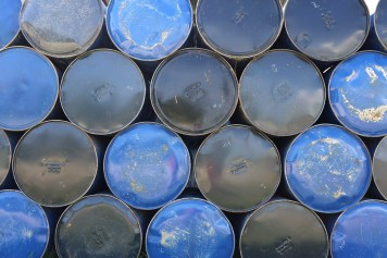 Barrels at the fuel station