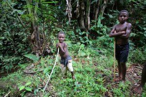 A local boy in Ambunti