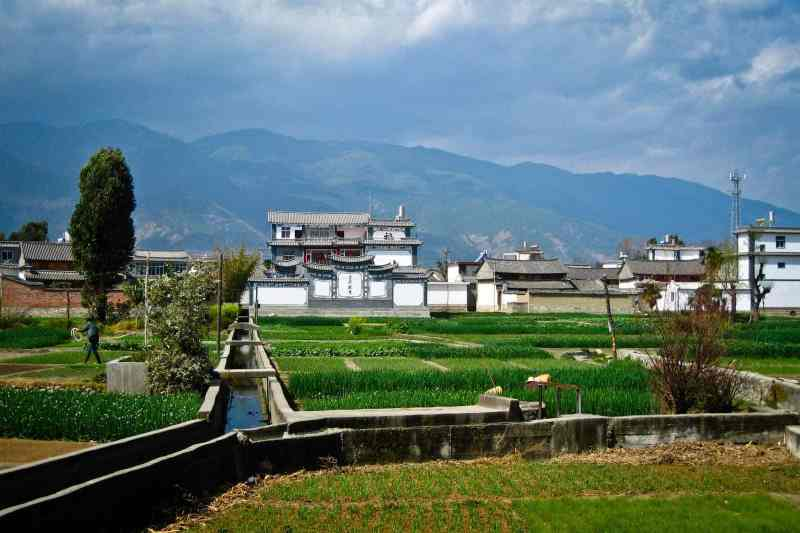 The fields and villages of rural Yunnan, China