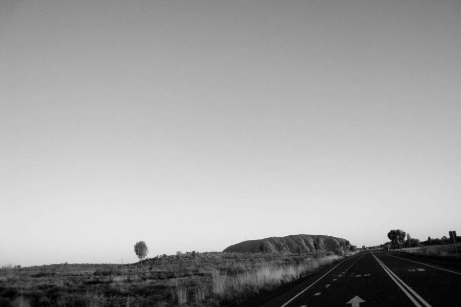 The highway leading to Uluru