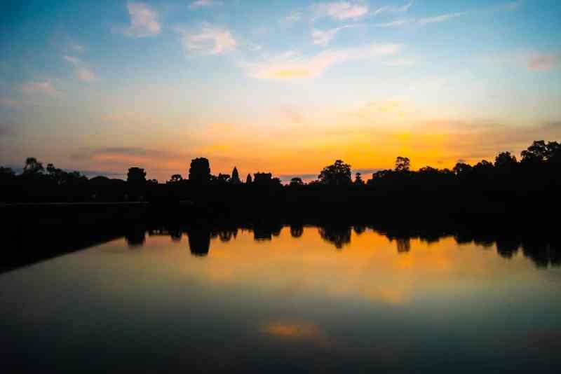 Photo of sunrise at Angkor Wat
