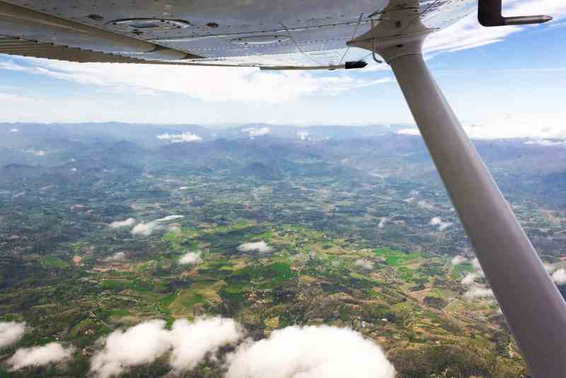 Photo of North Carolina from a Plane