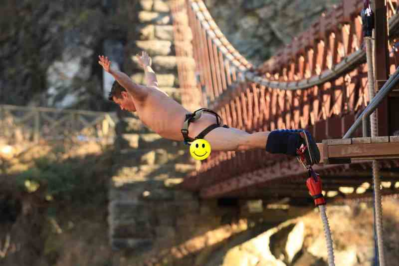 Photo of Author Bungee Jumping