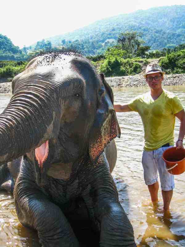 Photo of Author with an Elephant