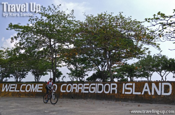 corregidor island philippines biking welcome sign
