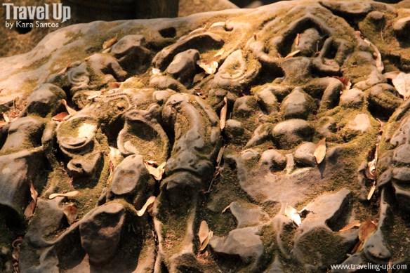 beng melea temple cambodia moss carvings