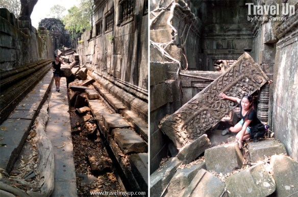 beng melea temple cambodia walkway