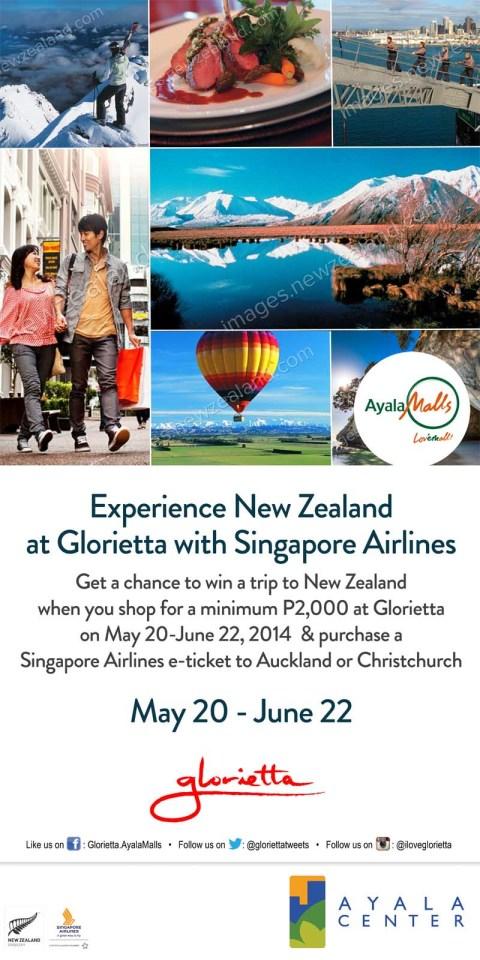experience new zealand at glorietta poster