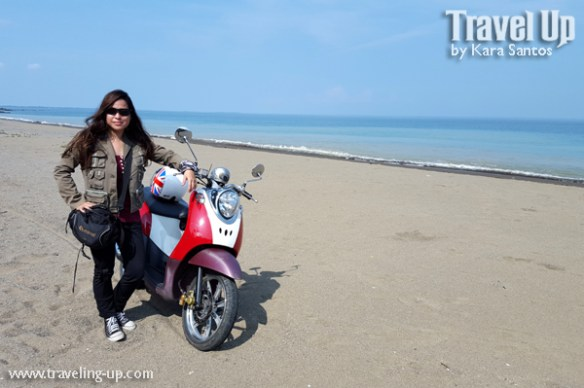 real quezon beach shore travelup motorcycle