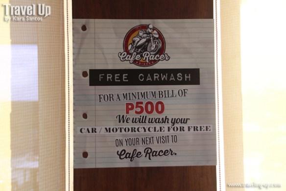 cafe racer cebu philippines car wash promo