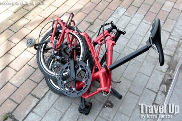 nyfti folding bike folded up