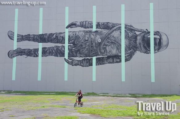 nyfti folding bike mural by cyrcle BGC