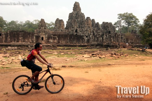 biking cambodia angkor archaeological park bayon outsideslacker