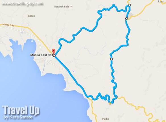pililla wind farm loop map biking route
