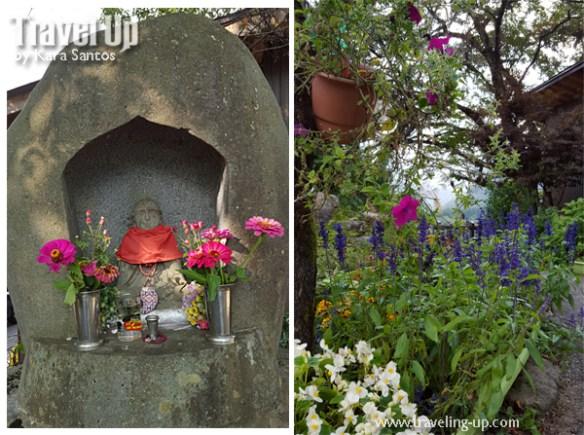 03. shirakawago village japan observation deck altar flowers