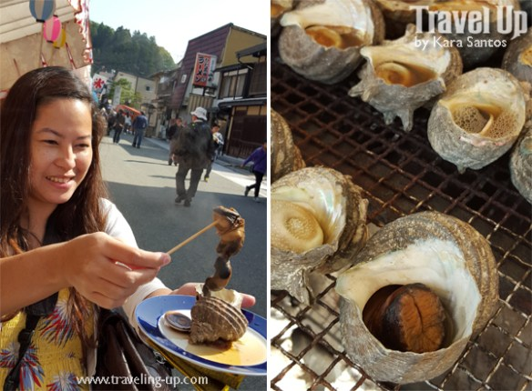 09. takayama japan morning market grilled conch shellfish