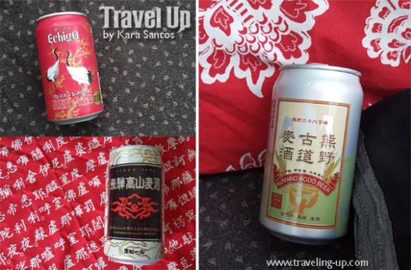 nagoya japan beer souvenirs echigo red ale, kumono koda, takayama beer