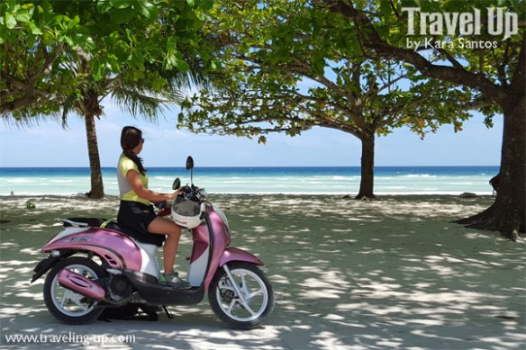 bohol by motorcycle anda white beach travelup scooter