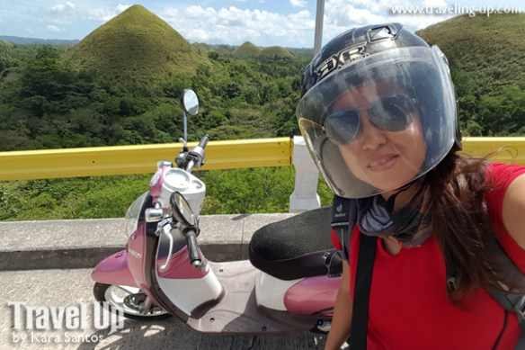 bohol by motorcycle scooter selfie travelup