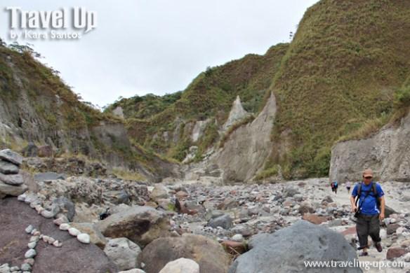 hiking mt. pinatubo hills rocky terrain