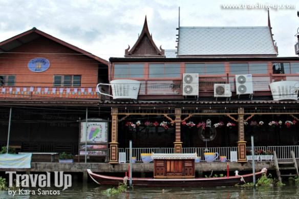 amphawa thailand riverside wooden shops cafes