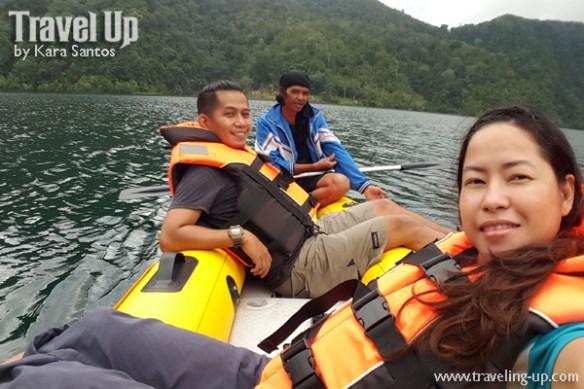 lake holon south cotabato boat selfie