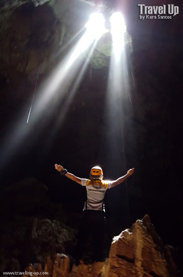 central cave samar travelup sunlight rays above