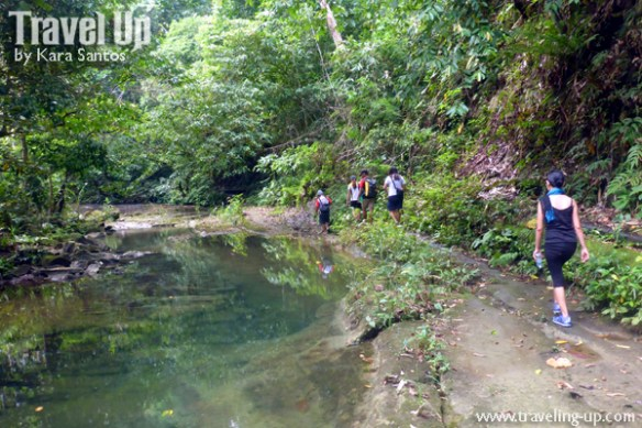 hike to central cave samar stream