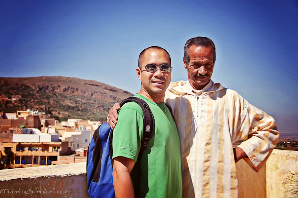 Bhali with town guide Mohammed