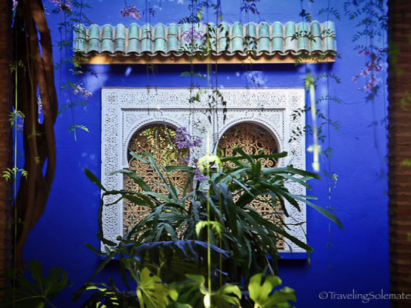 Window in Majorelle Garden in Marrakech