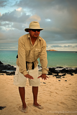 Mauricio, a naturalist guide  in Galapagos islands