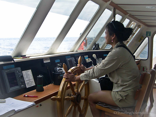 boat captain in Galapagos islands