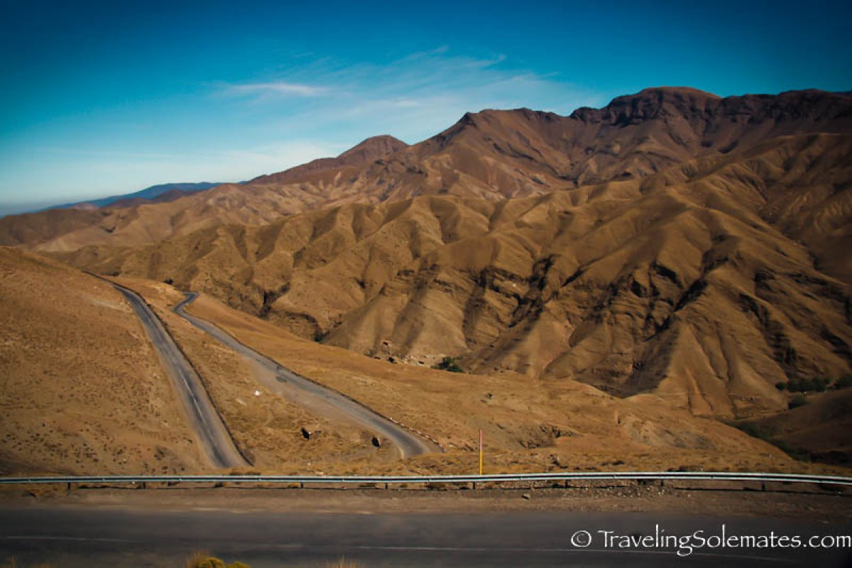 Highway in High Atlas, Morocco