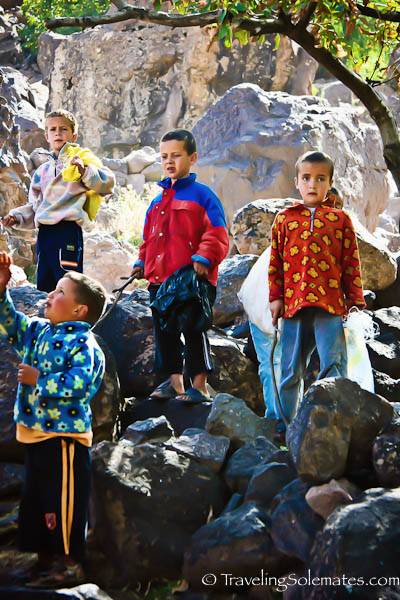 Children in The High Atlas Mountain, Morocco