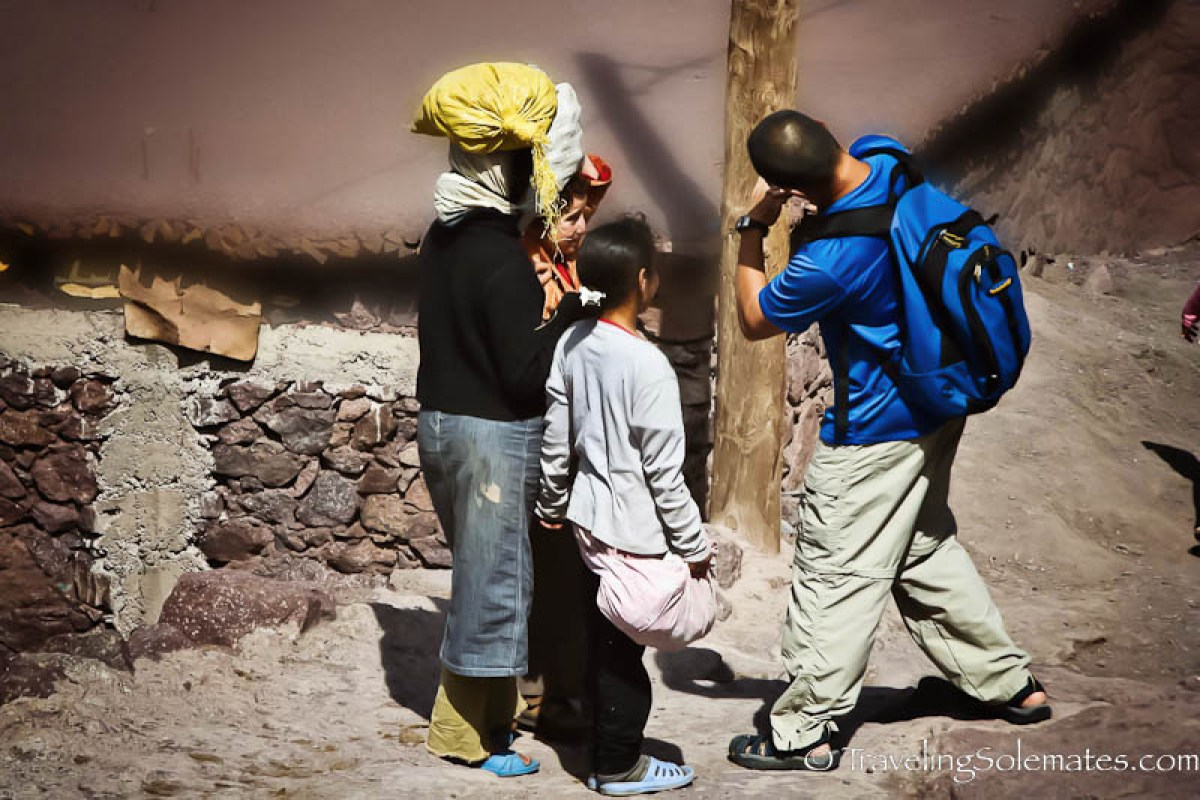 Hiking in a Village on The High Atlas Mountain, Morocco