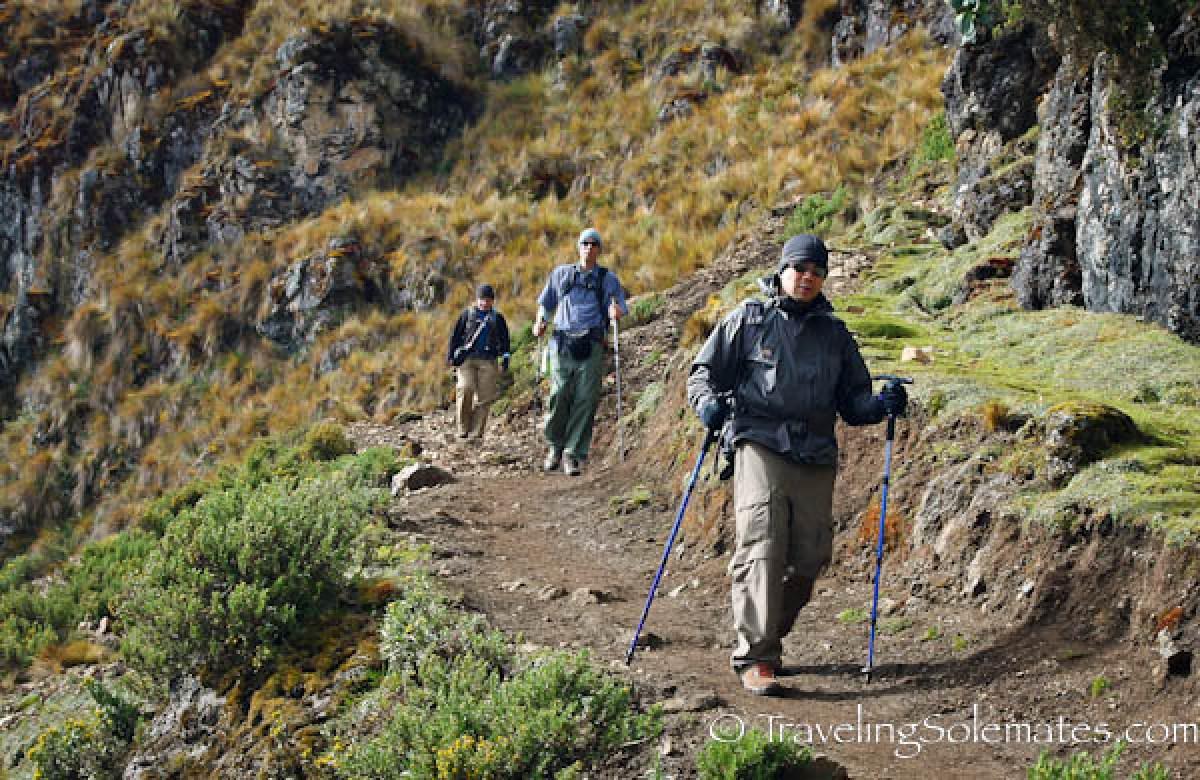 Trekkers on Lares Valley Trek Peru