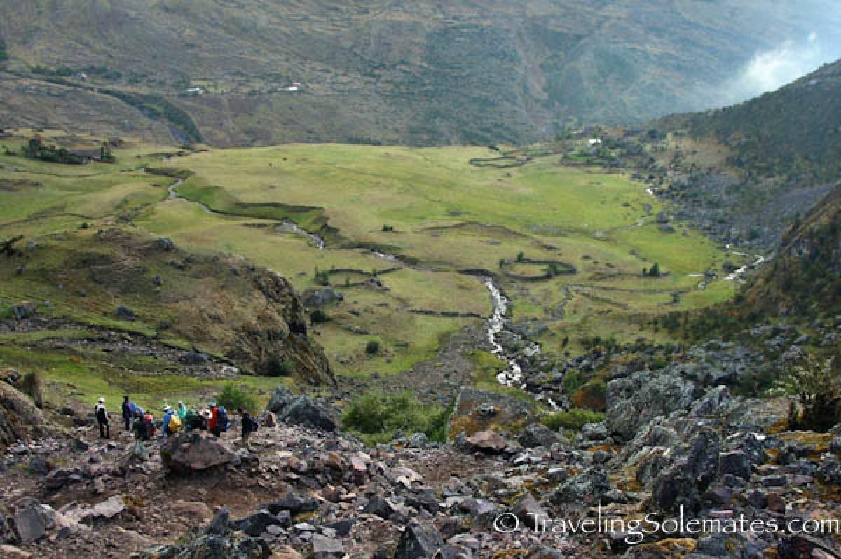 View of Chancachacan Valley, Lares Valley Trek Peru