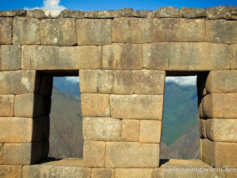 Trapezoid shaped windows in Machu Picchu