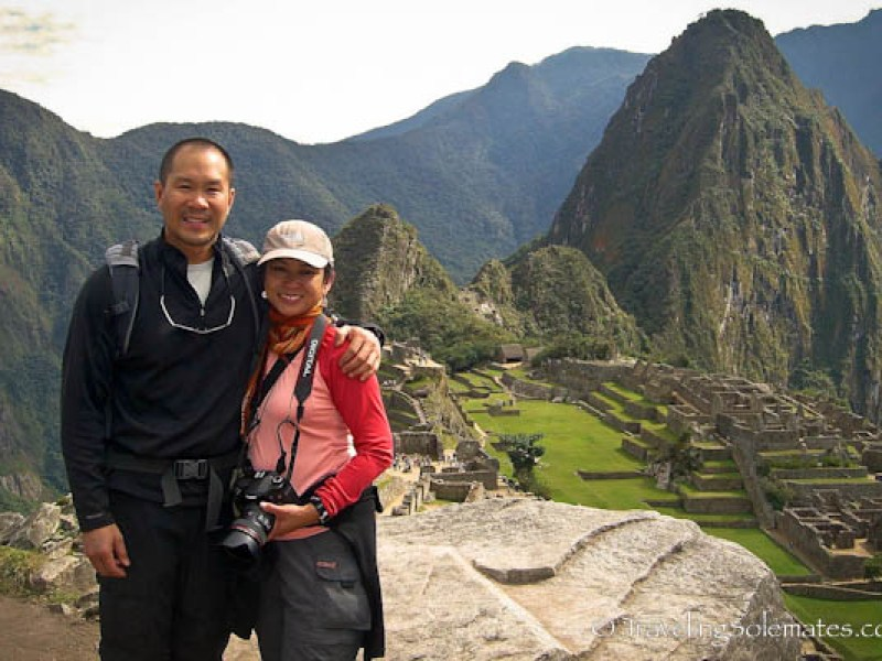 In the ruins of Machu Picchu