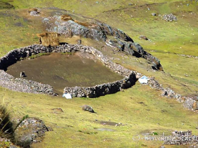 Animal enclosure, Lares Valley Trek Peru
