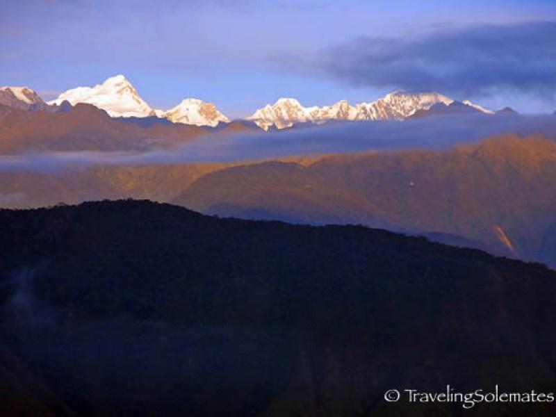 View of surrounding mountains fom Machu Picchu
