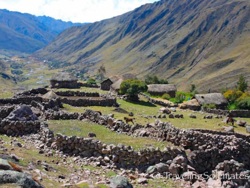 A village on Lares Valley Trek Peru