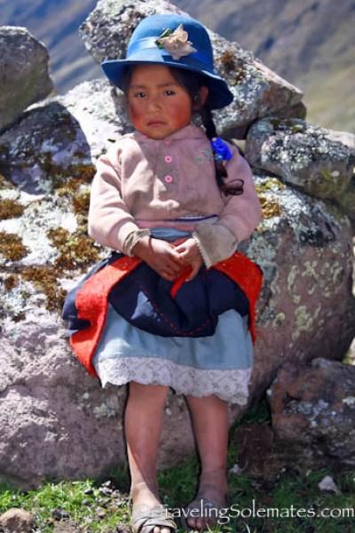 A lovely Quechuan senorita, Lares Valley Trek Peru