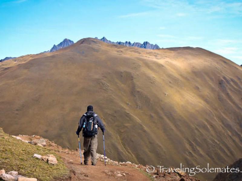 Trail on Lares Valley Trek Peru