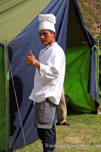 Chef on Lares Valley Trek Peru