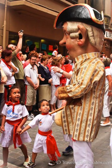 The Kilikis at the Fiesta de San Fermin, Pamplona, Spain